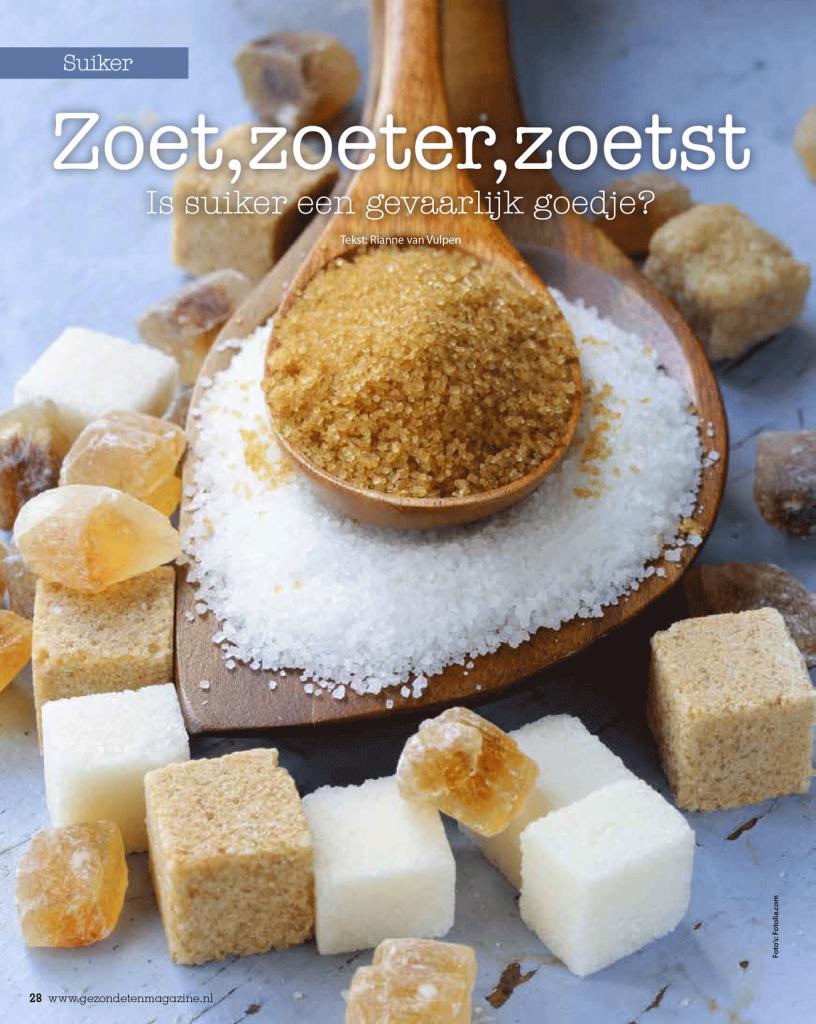 Interview suikers Gezond Eten magazine pag-1