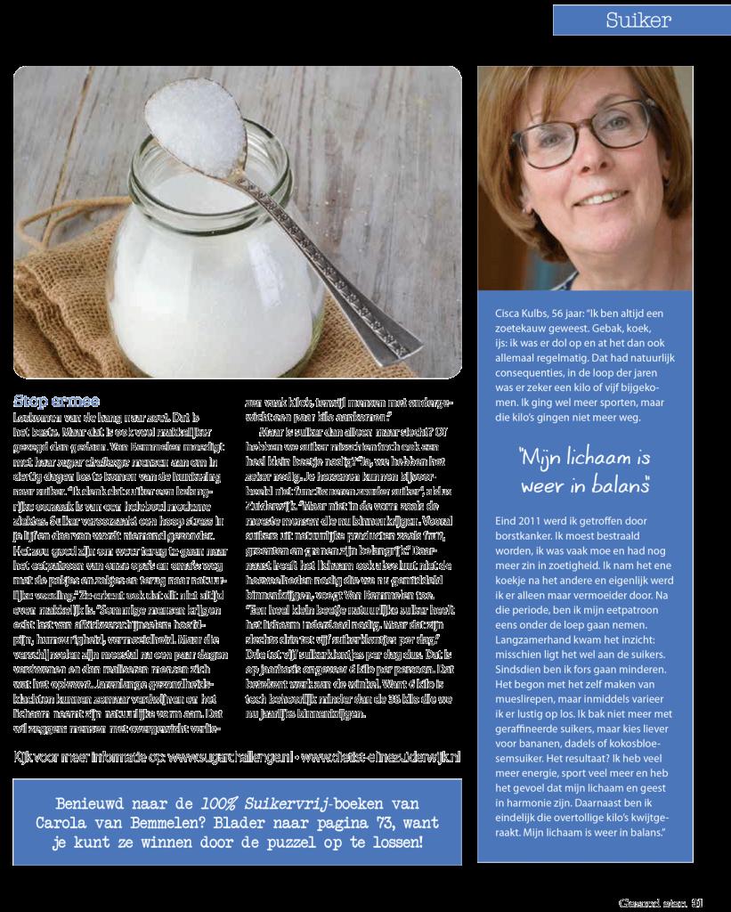 Interview suikers Gezond Eten magazine pag-4